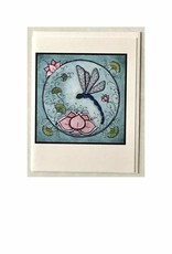 Kelly Casperson Dragonfly with Lotus card