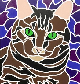 "Whitney North ""Tabby Cat I - Sofie"" 5""X7"" Print"