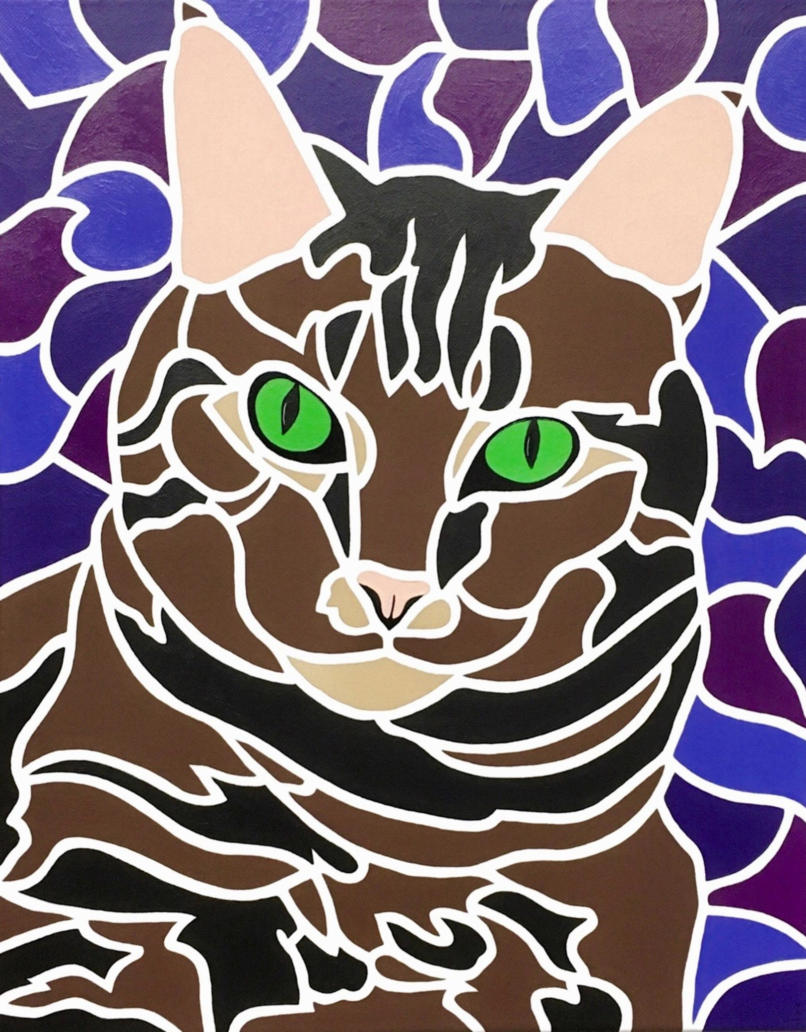 "Whitney North ""Tabby Cat I - Sofie"" 8""X10"" Print"