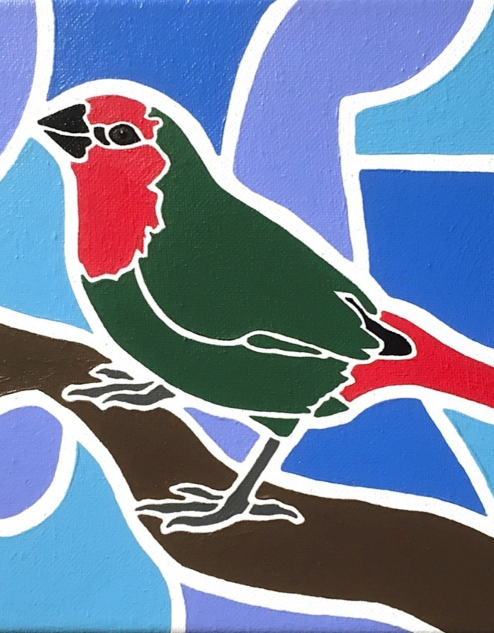 Whitney North Parrot Finch Original Painting