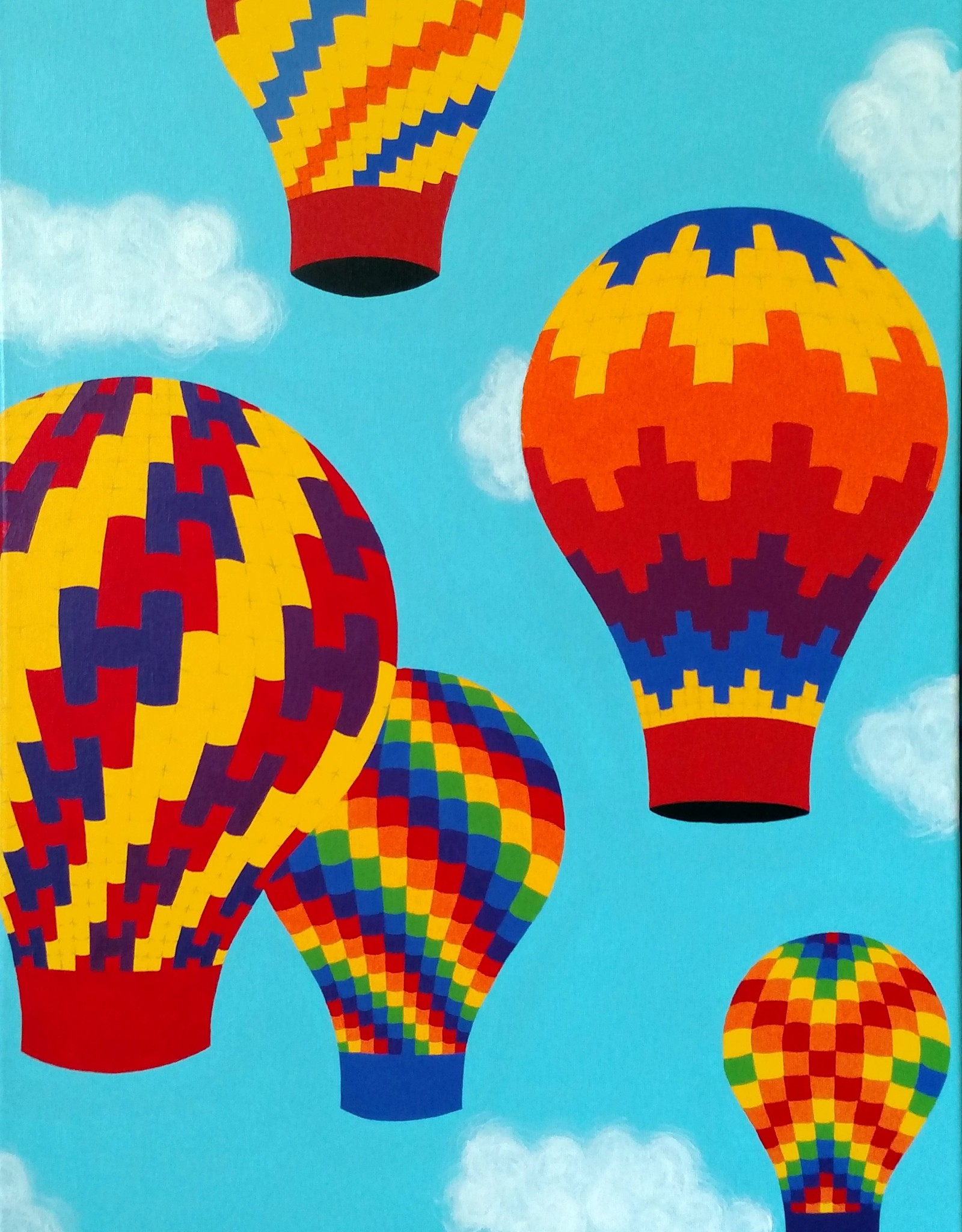 Whitney North Hot Air Balloons II Original Painting