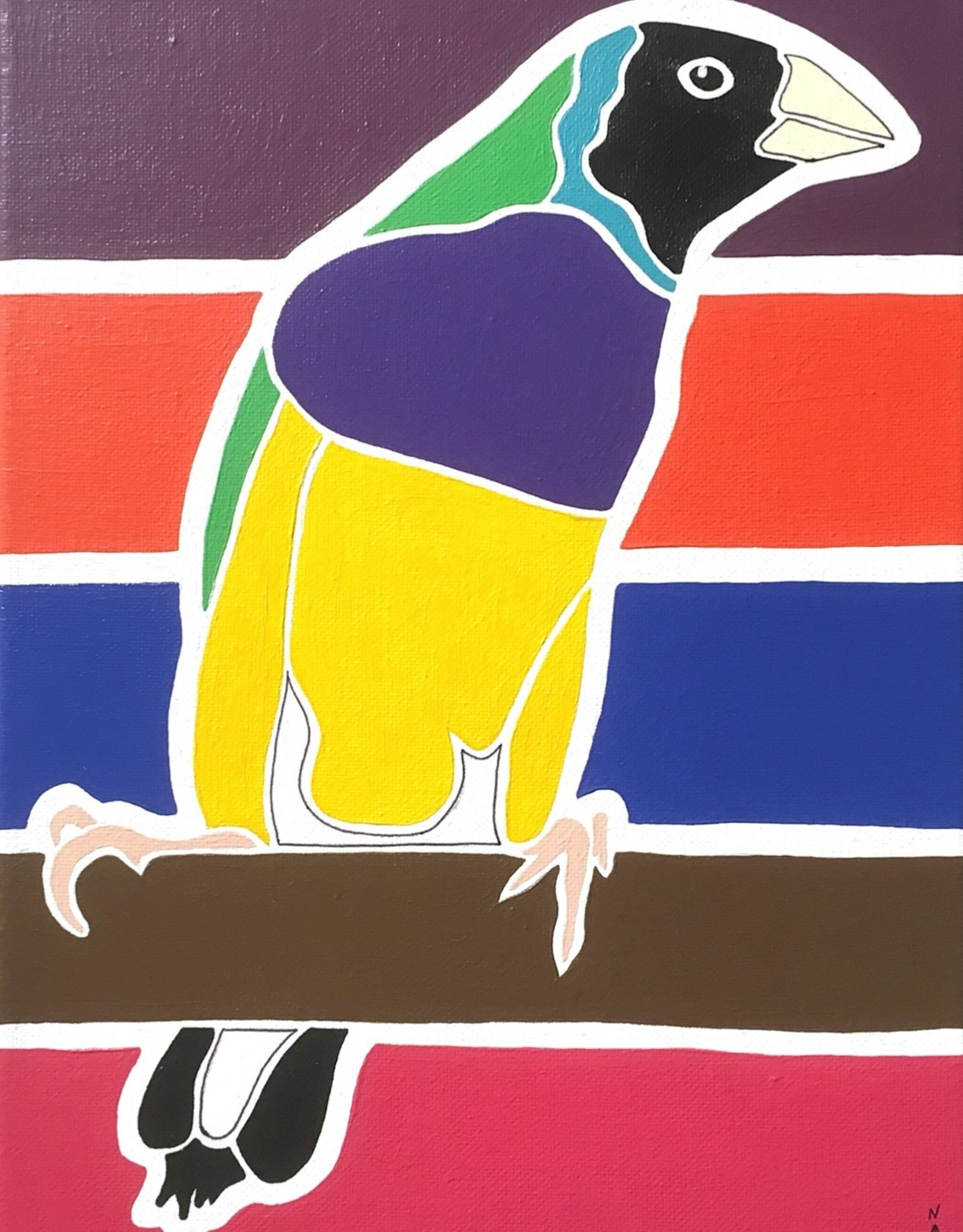 Whitney North Lady Gouldian Original Painting
