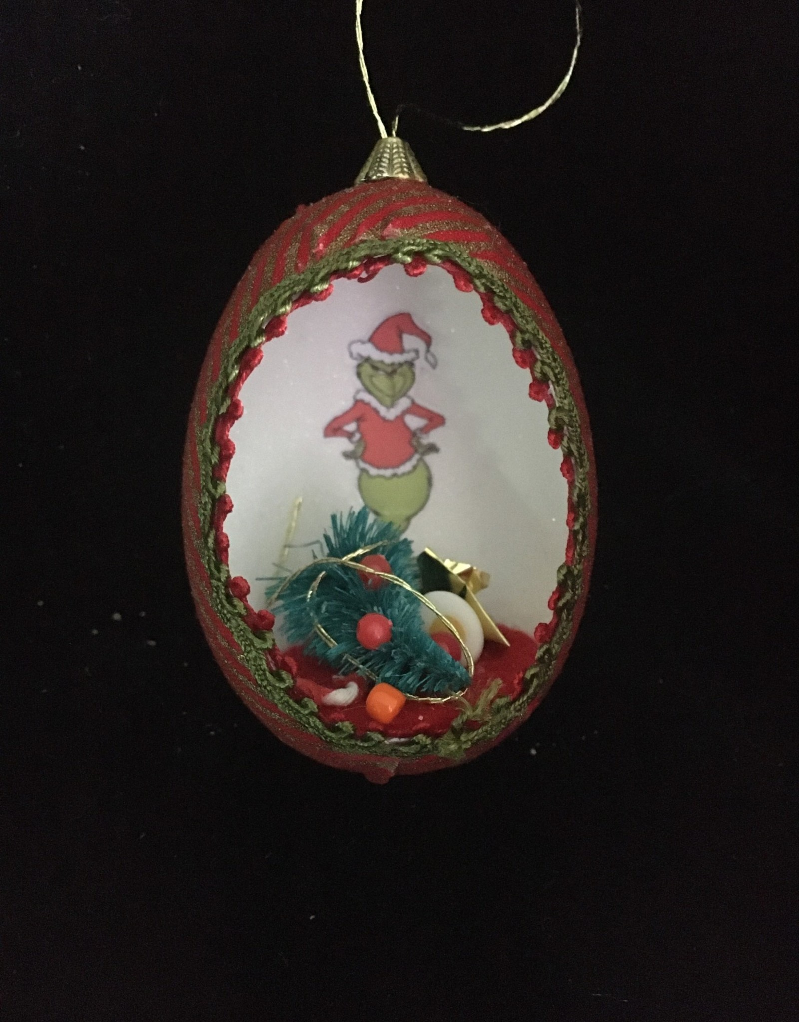 Ammi Brooks Grinch Real Egg Ornament