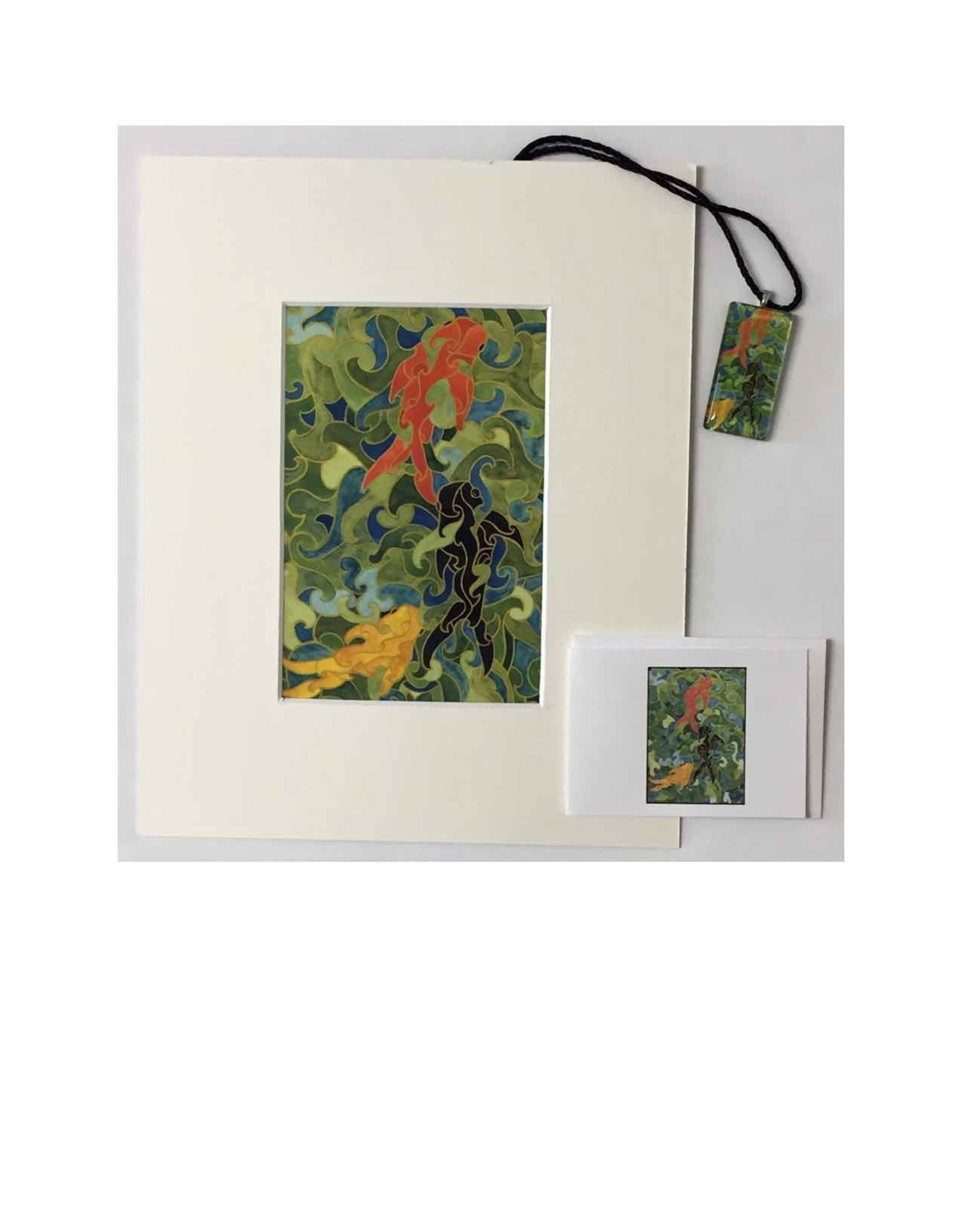 Kelly Casperson Three Koi gift set