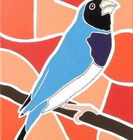 Whitney North Blue Lady Gouldian Original Painting