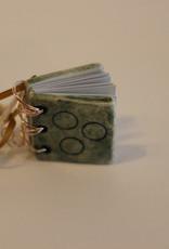 Pandora Patterson Ceramic Book Pendant Green