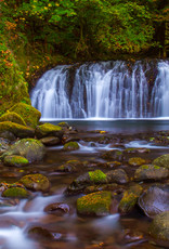 David Leonard Multnomah Creek Falls - Print