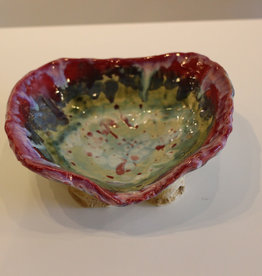 Pandora Patterson Red Swoop Fruit Bowl