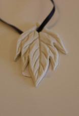 Pandora Patterson Porcelain Spindle Leaf Pendant