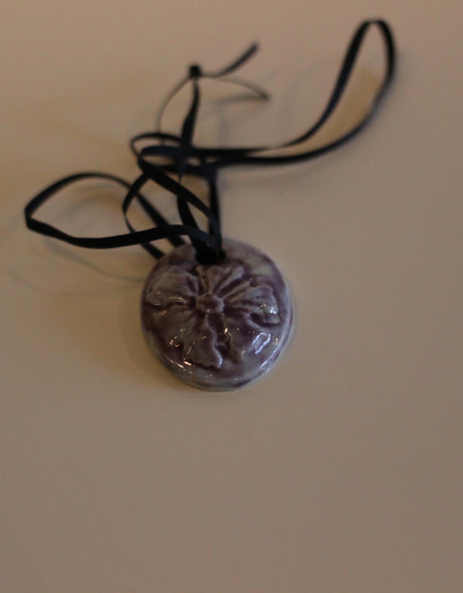 Pandora Patterson Purple Flower Pendant
