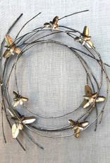 Shelly Durica-Laiche Willow Wreath with Wild Iris