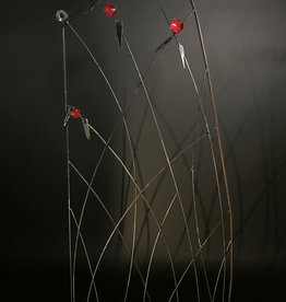 Shelly Durica-Laiche Reed Trellis with Flowers