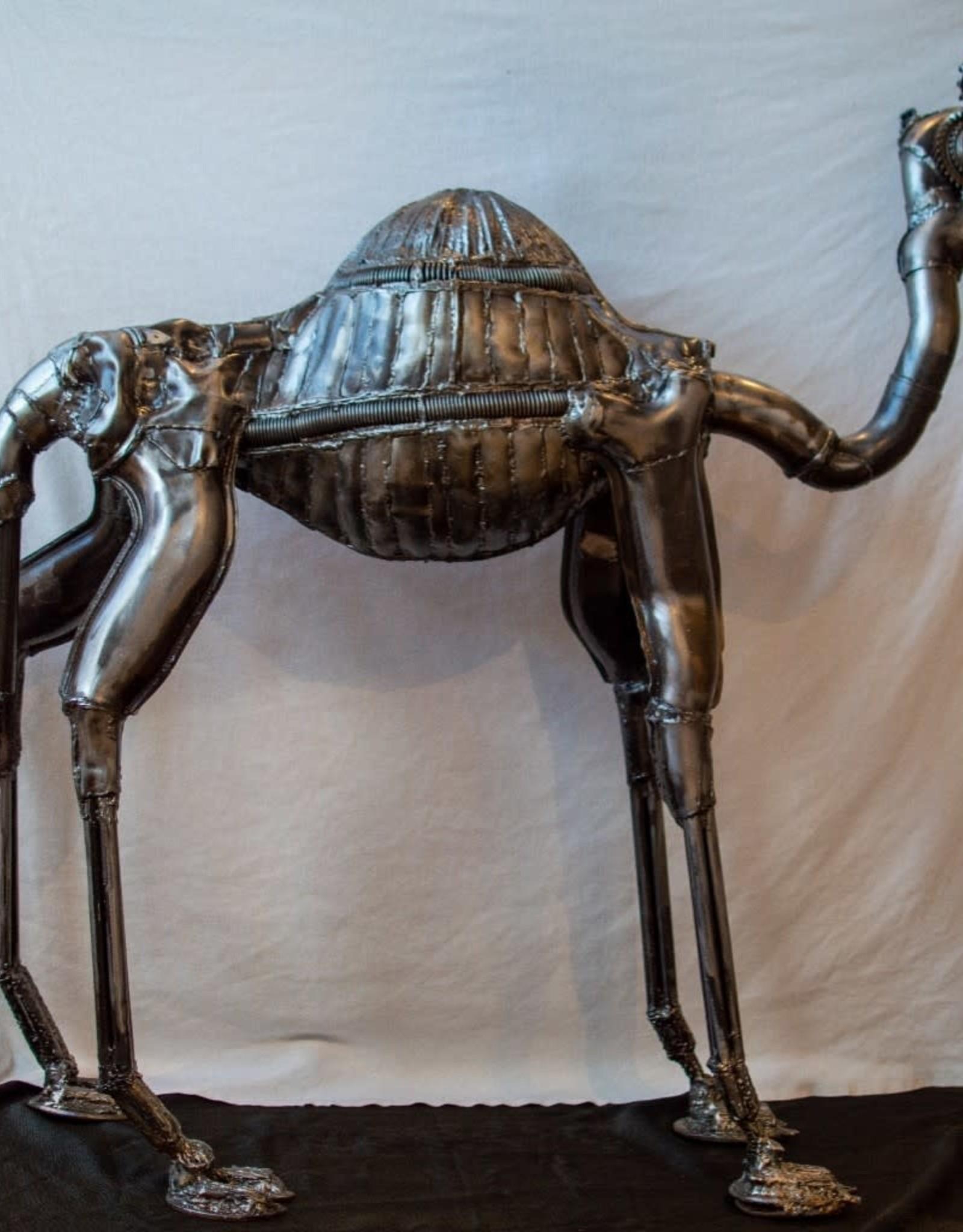 Josh Daily JoshDailyArt/Braying Camel/Metal Sculpture