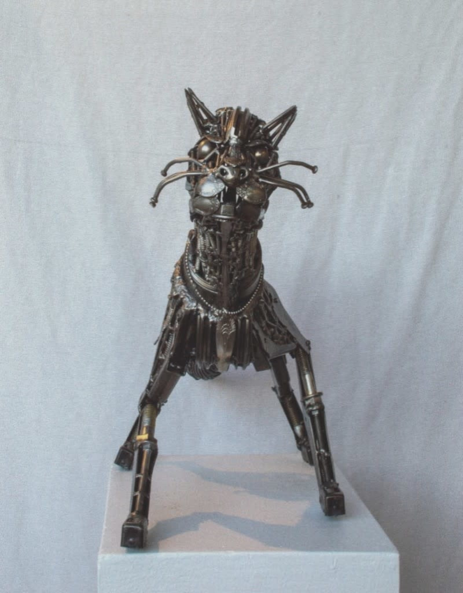 Josh Daily Josh Daily Art/On The Prowl/Cat/Metal Sculpture