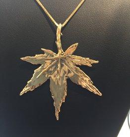 Susan Hunter Bodie Design Studio /14K Gold Japanese Maple Leaf necklace