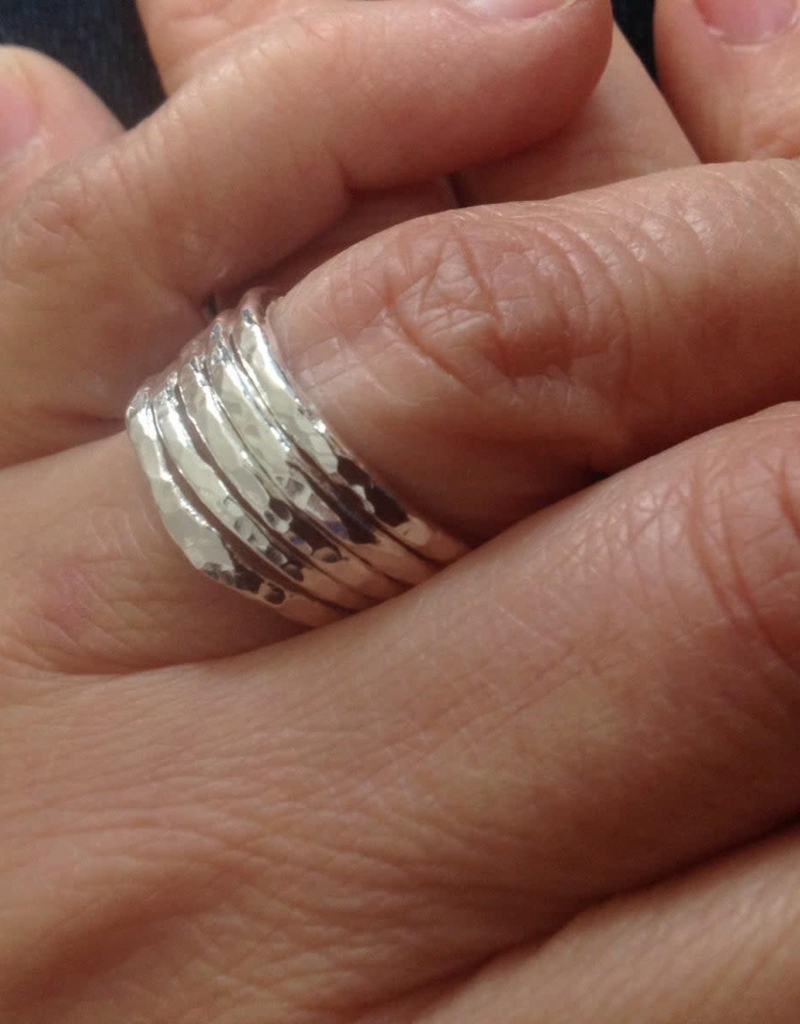 Susan Hunter Bodie/silver stacking ring (1)