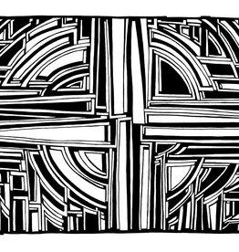 Gray Jones 'SmallPrint 42' 5x7 Blank Card