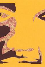 Gray Jones Face to Face -Cutout 9x12 #17 -Framed