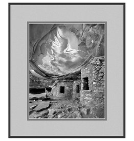 Erskine Wood Fallen Roof Ruin, Utah [B&W]-EW