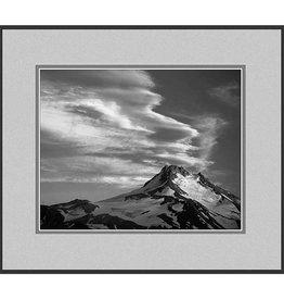 Erskine Wood Mt. Jefferson at Dusk, Oregon [B&W]-EW