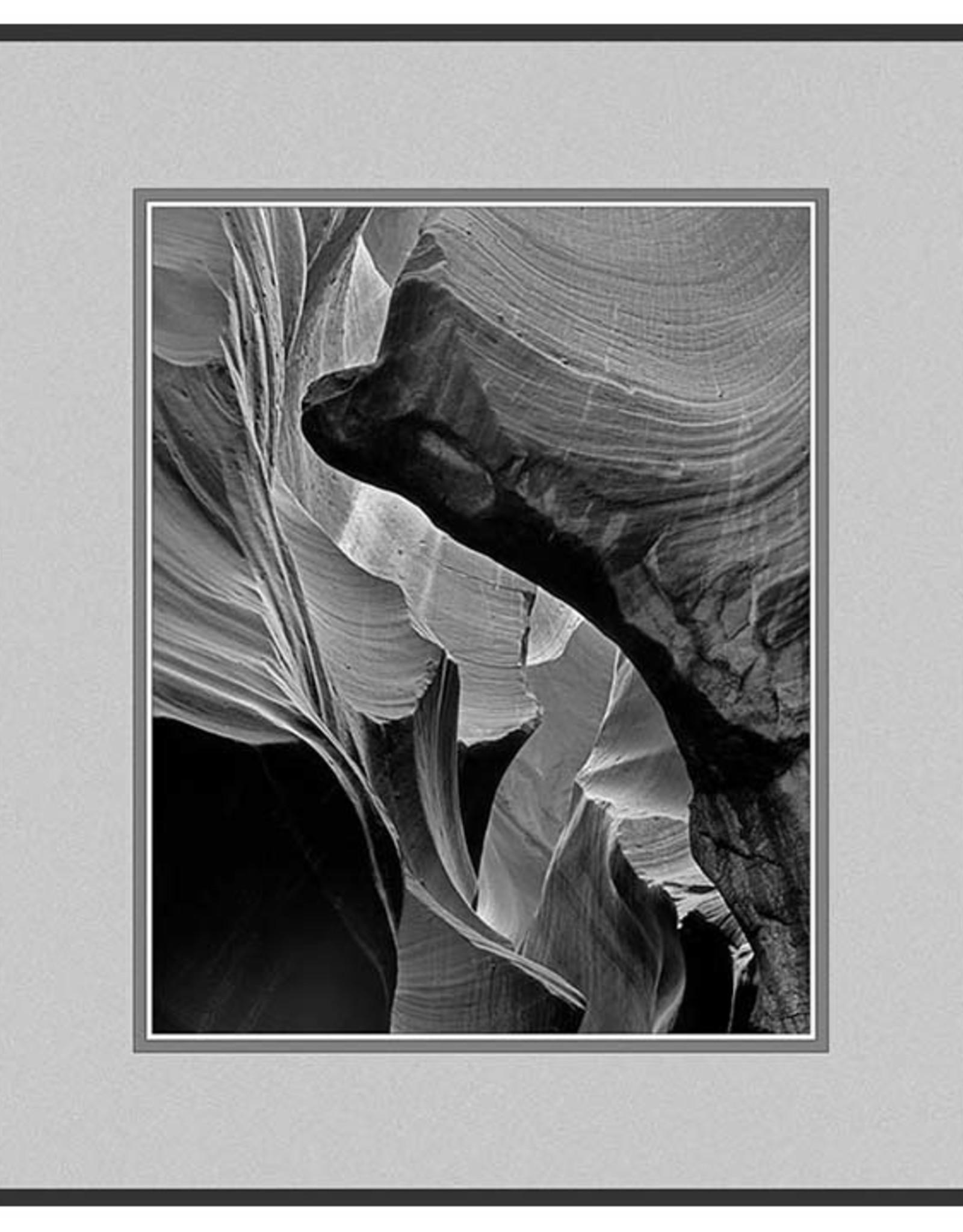 Erskine Wood Unnamed Canyon, (Antelope Canyon) [B&W]