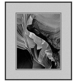 Erskine Wood Unnamed Canyon, (Antelope Canyon) [B&W]-EW