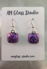Ann Mackiernan Fused Glass Earrings Medium - M25