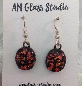 Ann Mackiernan Fused Glass Earrings Large - L13