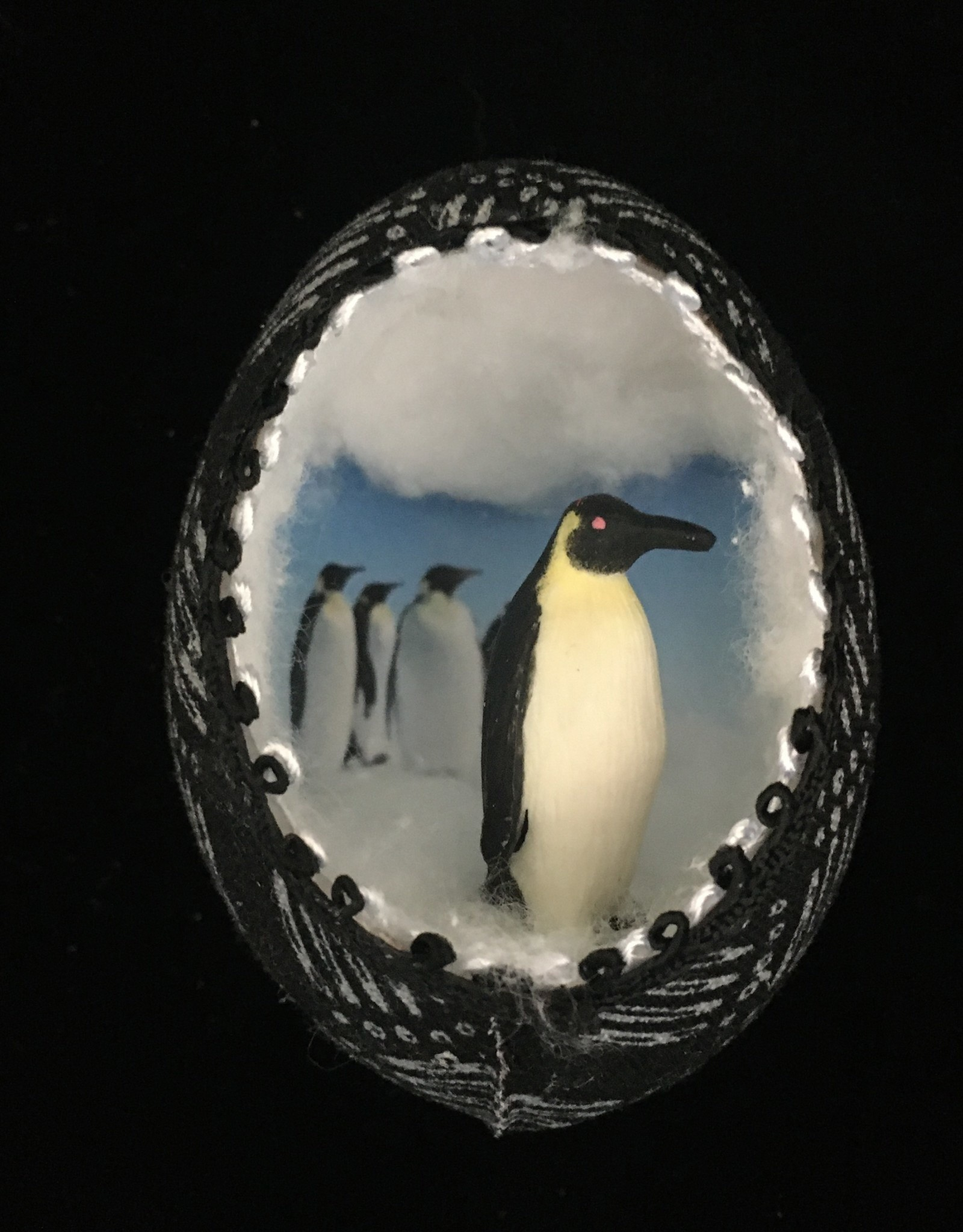 Ammi Brooks Penguin Real Egg Ornament