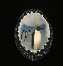 Ammi Brooks Penguin Real Egg Ornament