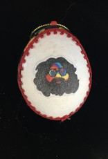 Ammi Brooks Grateful Dead Motorcycle Real Egg Ornament
