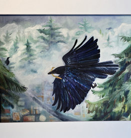 "Chrysos Designs Artworks, Fine Art Print, ""Above"", 16 x 20, matted"