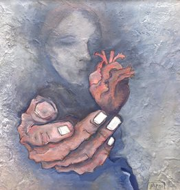 "Michelle Purvis ""I Wear My Heart on My Sleeve"" 10x10 inch MLP original"