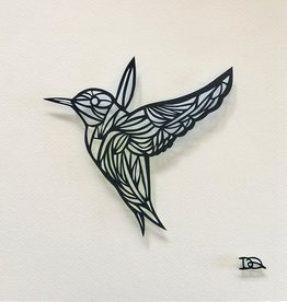 David Friedman Hummingbird Papercutting