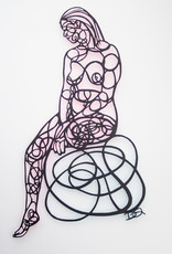 David Friedman Seated Nude Papercutting