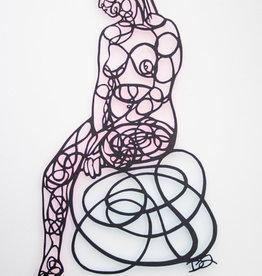 David Friedman Seated Nude Papercutting