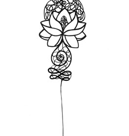 David Friedman Lotus Flower Papercutting