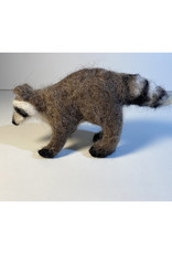 Jennifer Cook-Chrysos Chrysos Designs Artworks, Felted Racoon, 8 x 4