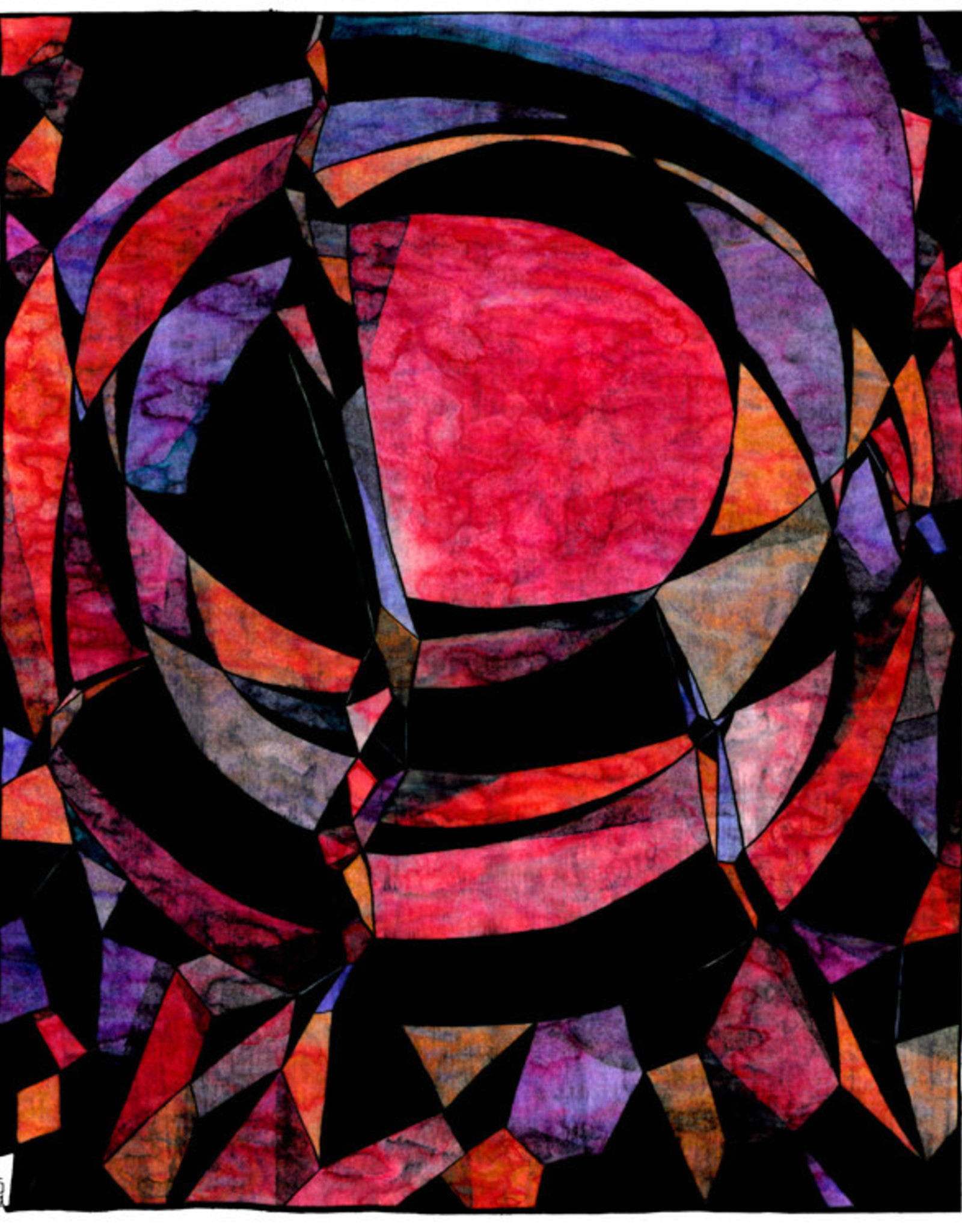 Gray Jones Print -11x14 Broken Circle 01
