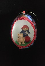 Ammi Brooks Paddington Real Egg Ornament