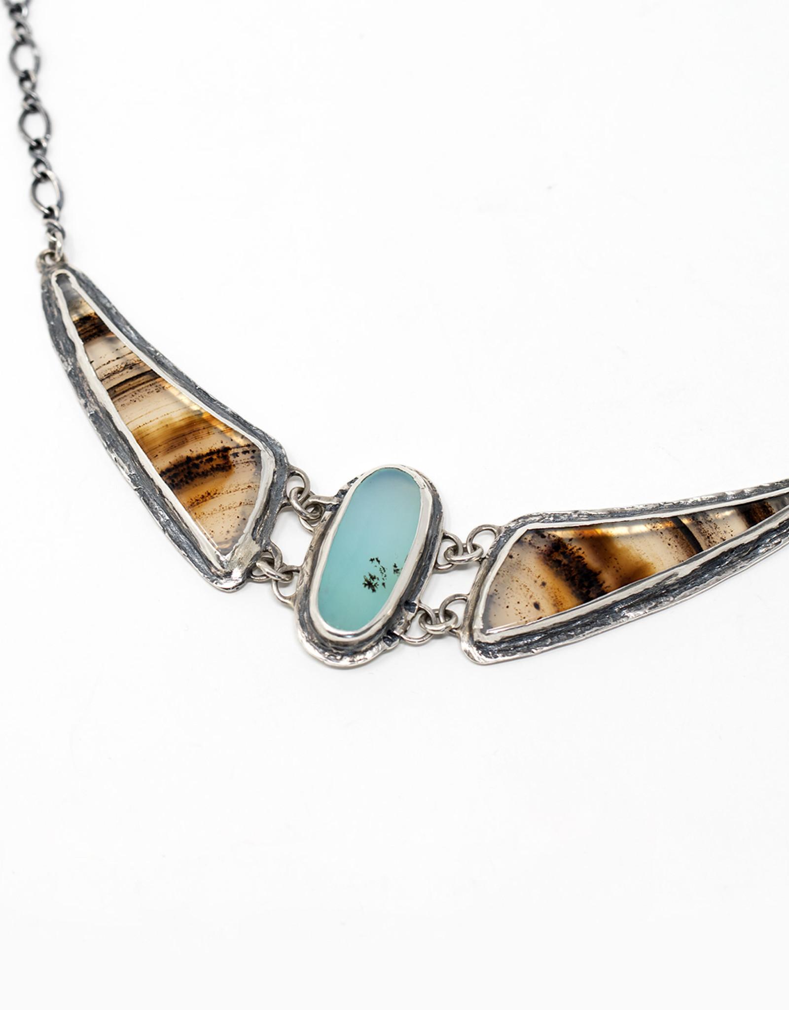 August Hess August Hess/Peruvian Opal and Montana Agate Choker Necklace