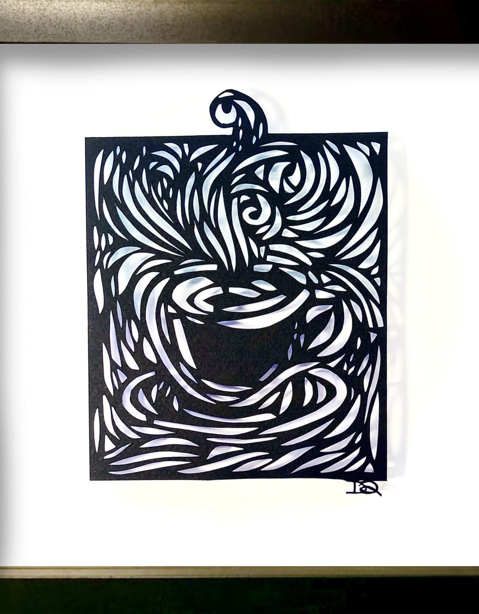 David Friedman Cup Of Joe Papercutting