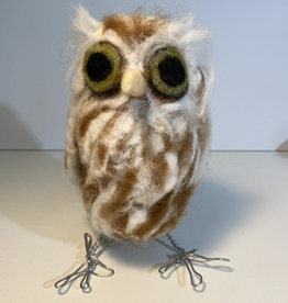 Jennifer Cook-Chrysos Chrysos Designs Artworks, Felted Owl, Large