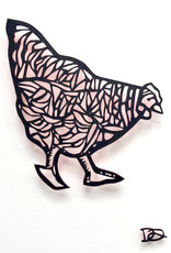 David Friedman Little Red Hen Papercutting