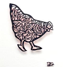 David Friedman Little Red Hen Papercutting