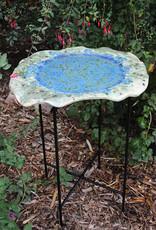 Pandora Patterson Deep Blue Moon Platter Birdbath Dish