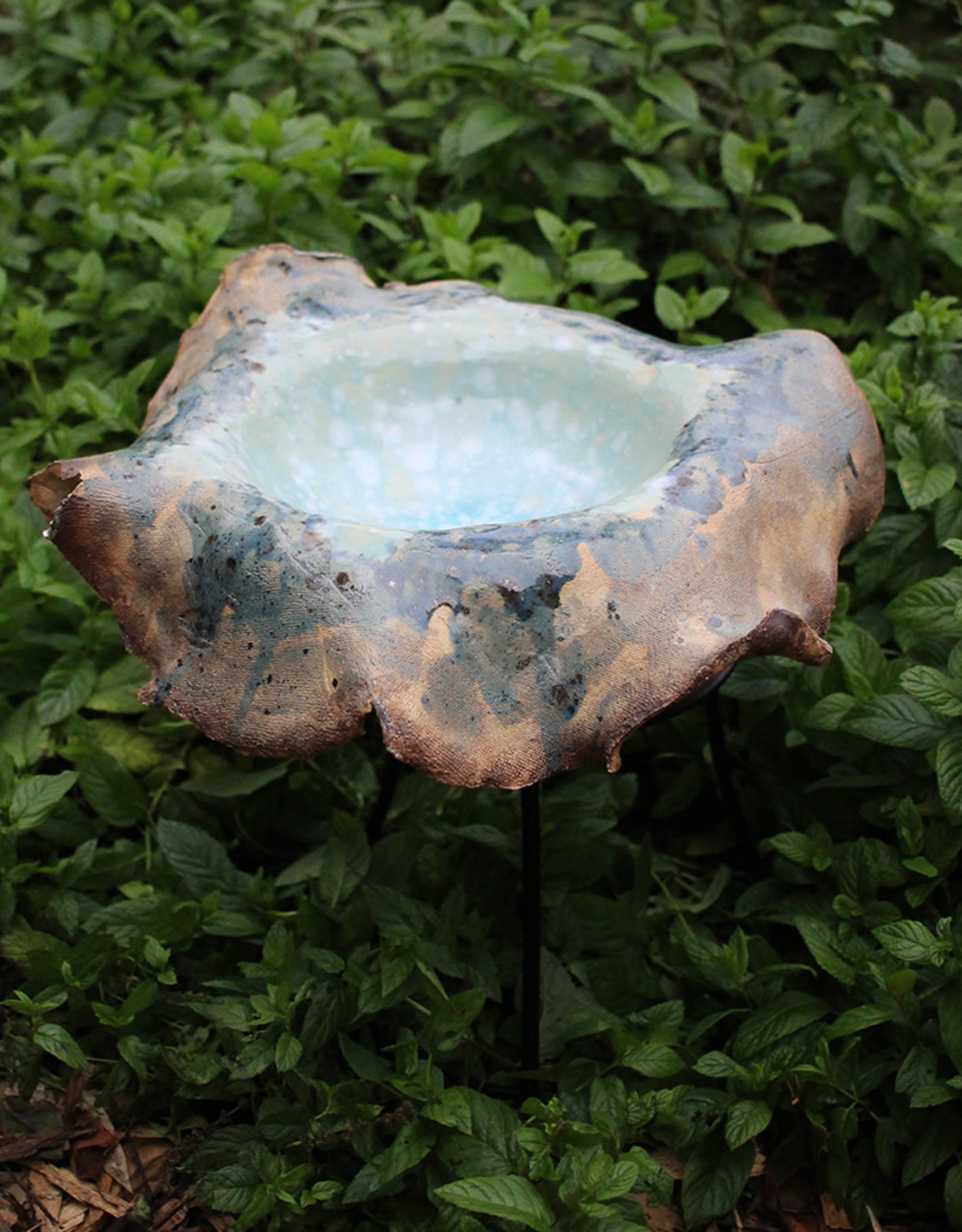 Pandora Patterson Celadon Pool Bowl Birdbath Dish