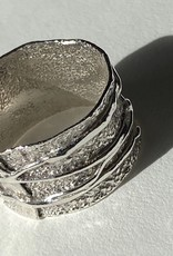 Becca Paisley Stabach BP Androgynous Textured Sterling Ring, Size 8