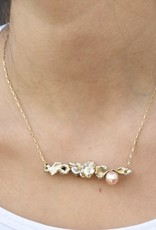 BP Freshwater Pearl, Sterling S, Gold Fill chain