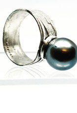 Becca Paisley Stabach BP Jumbo Black Pearl Cocktail Ring, Size 8